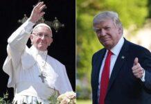 trump & pope