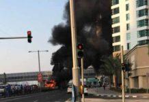 Dubai bus fire